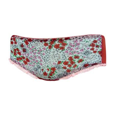 【瑪登瑪朵】FA0142-3 心花拉溝 低腰平口棉褲(童話紅)