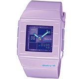 CASIO Baby-G 紫色方塊 運動錶BGA-200-6E紫