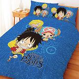 【享夢城堡】航海王 冒險地圖系列-雙人四件式床包涼被組