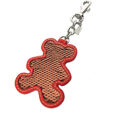 COACH 熊熊造型亮片鑰匙圈