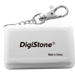 DigiStone 防震多功能記憶卡收納盒(4片裝)- 霧透白色1個