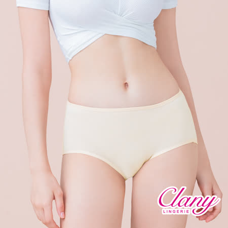 【可蘭霓Clany】天然蠶絲蛋白抗敏M-XL內褲 初暮黃 2152-71
