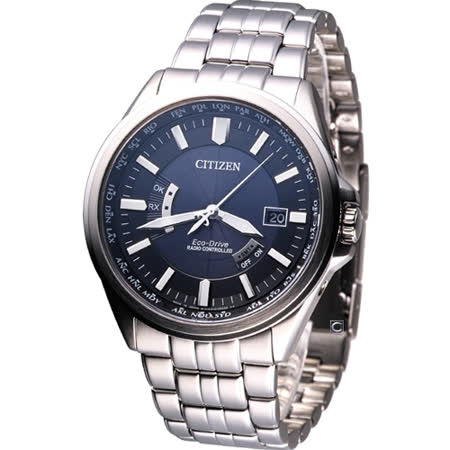 CITIZEN 優雅典範 時尚電波錶CB0011-51L深藍色