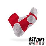 Titan功能慢跑襪-紅/竹炭