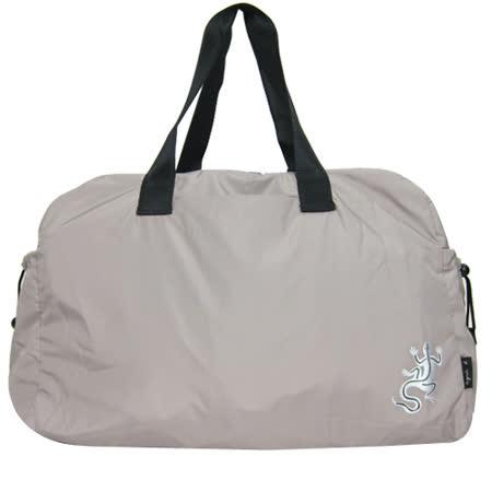 agnes b 輕巧尼龍蜥蜴旅行袋(大/灰)