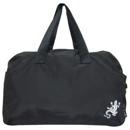agnes b 輕巧尼龍蜥蜴旅行袋(大/黑)