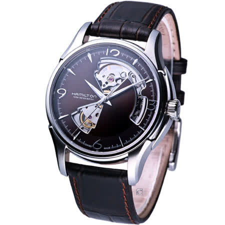 HAMILTON JazzMaster 經典鏤空 機械錶 H32565595 咖啡色