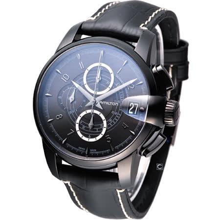 HAMILTON Railroad 鐵路機械計時腕錶 H40686335 全黑款