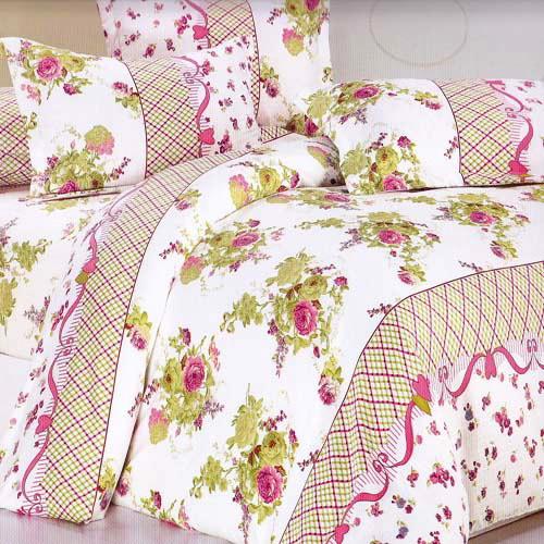 ~花中幻影~雙人四件式緹花薄被套床包組