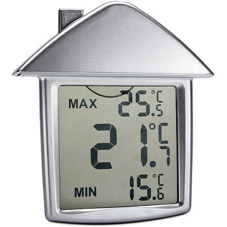 《REFLECTS》小屋吸盤式溫度計(銀)