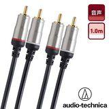 日本鐵三角 AT564A/1.0m 雙RCA高級音源訊號線