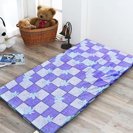 【名流寢飾】MIT杜邦高壓透氣棉三折硬式床墊-加大單人