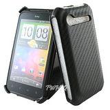 HTC Incredible S 動感卡夢紋 下掀式 手機皮套