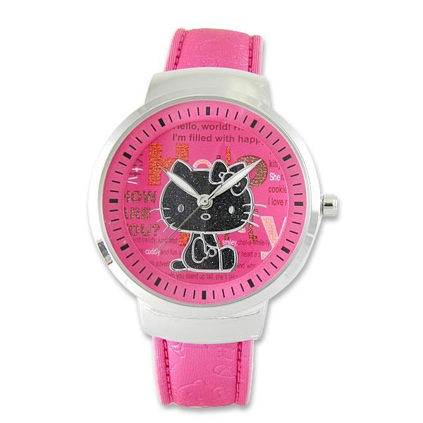 《Hello Kitty》進口淑女精品手錶-貴族風範-粉紅