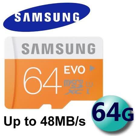Samsung 三星 64GB EVO microSDXC TF UHS-I C10 高速卡