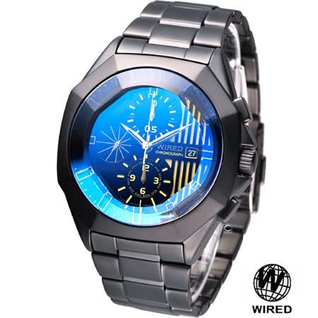 ALBA WIRED 東京時尚潮流 計時腕錶7T92-0LX0K藍AGAV751