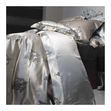 法國CASA BELLE《貴族之戀》特大蠶絲緹花四件式被套床包組
