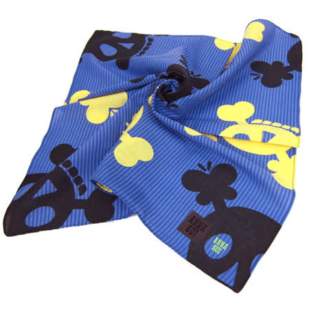 ANNA SUI 骷髏條紋帕巾(紫)
