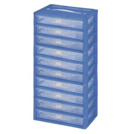 【DOLEDO】手提分類收納整理盒-十層