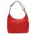 Longchamp Le Piage拉鍊尼龍輕巧後背包-紅色