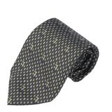 TRUSSARDI 細緻LOGO橢圓圖騰領帶-深灰色