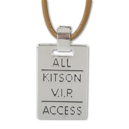 Kitson 2010新品 吊牌項鍊-銀色