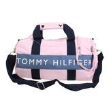 TOMMY HILFIGER 兩用休閒運動(中)圓桶包-粉紅色