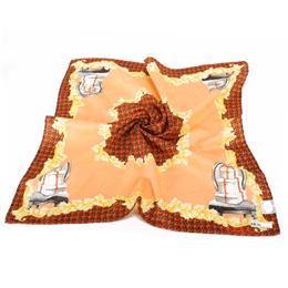 Christian Dior 古典巴洛克禮盒圖騰帕領巾-橘