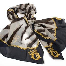【好物分享】gohappy快樂購Christian Dior 時尚斑馬紋長版絲巾-黑/咖啡價格百 威