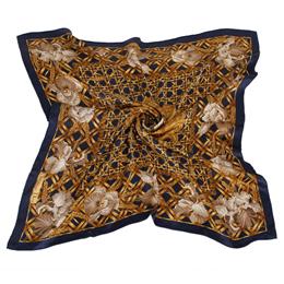 【私心大推】gohappy快樂購物網Christian Dior 滿版竹編與花朵(大)領巾-深藍色有效嗎雙 和 太平洋 sogo