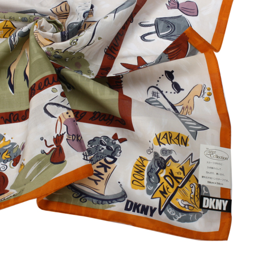 DKNY 美好春季時尚帕領巾-橛|感邊