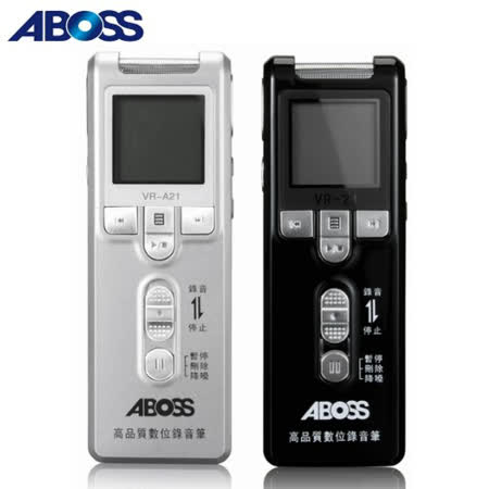 ABOSS高音質數位錄音筆4GB(VR-21)