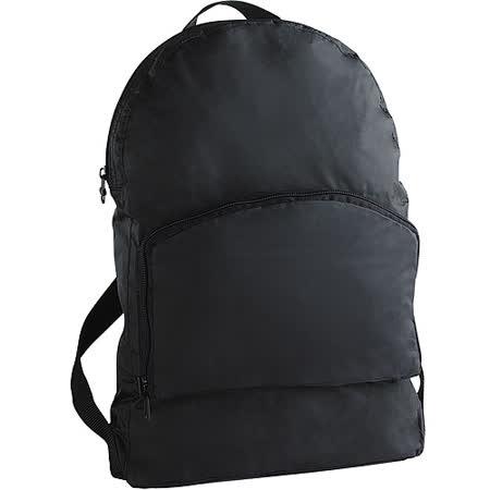《GO TRAVEL》Foldaway 折疊式兩用後背包(黑)