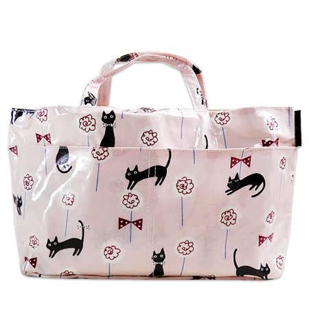 【Noafamily日本諾亞家族】玫瑰花園貓咪手提包(粉紅色)
