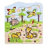 德國Hapé Eco-toys 愛派-叢林動物木拼圖