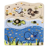 德國Hapé Eco-toys 愛派-海洋動物木拼圖