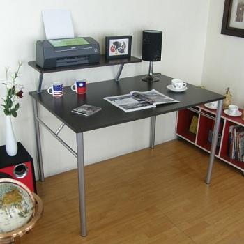 (桌面80x120cm)書桌(附Z型桌上架80cm/二色)