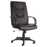 高級[豪華型]PVC皮革-主管椅/辦公椅/電腦椅[含後仰功能]-黑色