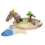 德國Hapé Eco-toys愛派-叢林動物DIY列車組