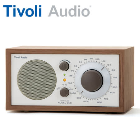 Tivoli Audio Model One AM/FM 桌上型收音機(米白/胡桃木)