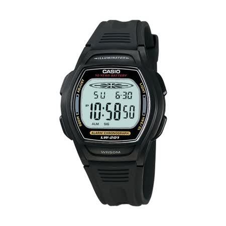 CASIO 校園魅力經典電子錶(灰黑邊)