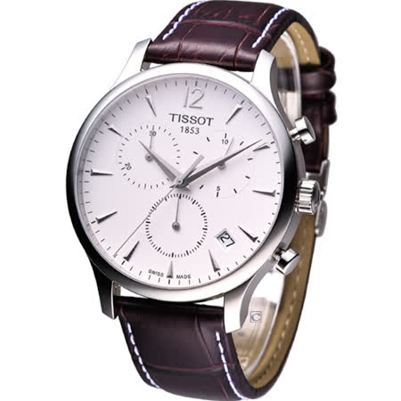 TISSOT T-TRADITION 極簡雅士  計時腕錶 T0636171603700 白色