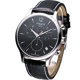 TISSOT T-TRADITION 極簡雅士  計時腕錶 T0636171605700 黑色