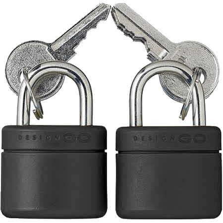 《GO TRAVEL》Lock 行李箱鑰匙鎖2件組(霧黑)