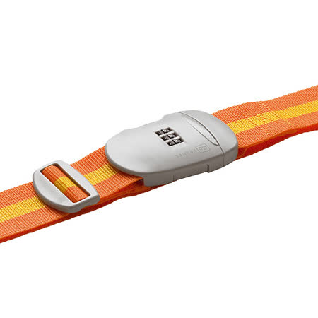 《GO TRAVEL》Comi 雙色密碼鎖行李綁帶(橘)