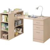 《Living》普普書居書架型書桌(白橡色)