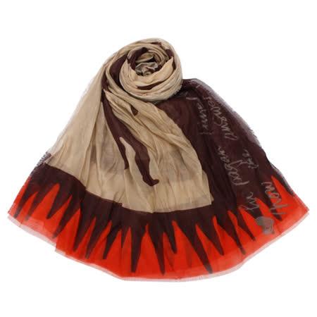 【部落客推薦】gohappy快樂購物網Vivienne Westwood 熱情搖滾透氣薄圍巾-駝咖/紅好用嗎嘉義 市 百貨 公司