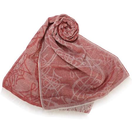 【部落客推薦】gohappy快樂購Vivienne Westwood 滿版LOGO壓紋亞麻薄圍巾-紅色價格gohappy 客服 專線