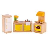 德國Hape愛傑卡-角色扮演娃娃居家系列現代廚房組合