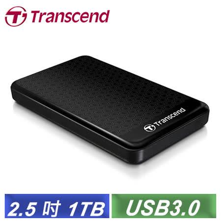 創見 StoreJet 25A3 1TB USB3.0 2.5吋纖薄抗震行動硬碟(TS1TSJ25A3K)-【送創見外接硬碟包】